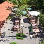 """Biergarten, Landgasthof """"Zum Goldenen Kreuz"""" Pfrungen"""